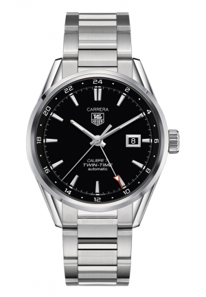 TAG HEUER CARRERA Calibre 7 Twin Time Automatic Watch 41 mm WAR2010.BA0723