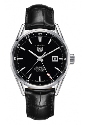 TAG HEUER CARRERA Calibre 7 Twin Time Automatic Watch 41 mm WAR2010.FC6266