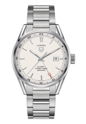 TAG HEUER CARRERA Calibre 7 Twin Time Automatic Watch 41 mm WAR2011.BA0723