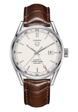 TAG HEUER CARRERA Calibre 7 Twin Time Automatic Watch 41 mm WAR2011.FC6291
