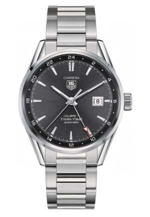 TAG HEUER CARRERA Calibre 7 Twin Time Automatic Watch 41 mm WAR2012.BA0723