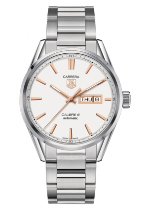 TAG HEUER CARRERA Calibre 5 Day-Date Automatic Watch 41 mm WAR201D.BA0723