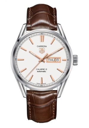 TAG HEUER CARRERA Calibre 5 Day-Date Automatic Watch 41 mm WAR201D.FC6291