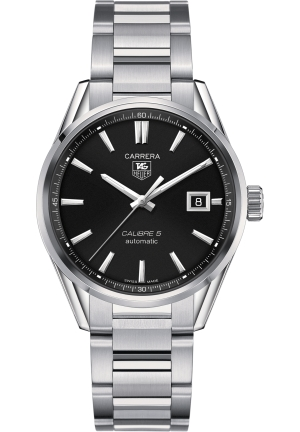 TAG Heuer Men's Swiss Automatic Carrera Calibre 5 Stainless Steel Bracelet Watch 39mm WAR211C BA0782
