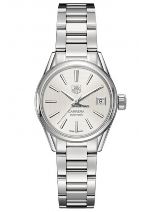 CARRERA AUTOMATIC WHITE DIAL STAINLESS STEEL LADIES WATCH 28MM,WAR2414.BA0776
