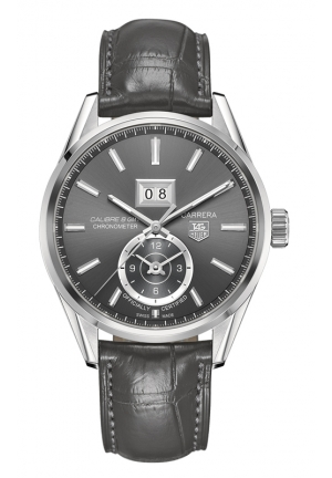 TAG HEUER CARRERA Calibre 8 GMT and Grande Date Automatic watch 41 mm WAR5012.FC6326