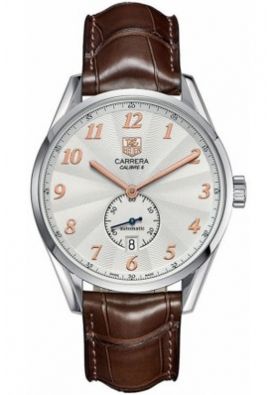 Men's Swiss Automatic Carrera Calibre 6 Brown Alligator Leather Strap 39mm WAS2112.FC6181
