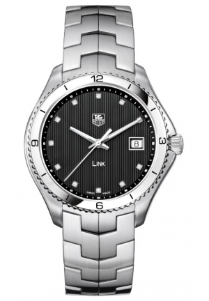 TAG HEUER Link Analog Display Swiss Quartz Black Watch 40mm WAT1112.BA0950