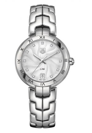 TAG HEUER LINK Diamond dial Roman Numeral 34.5 mm WAT1311.BA0956