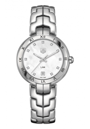 TAG HEUER LINK Diamond dial Roman Numeral 34.5 mm WAT1315.BA0956