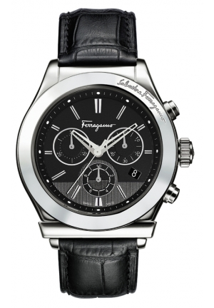 WATCH CHRONO STAINLESS STEEL IP BLACK 42mm