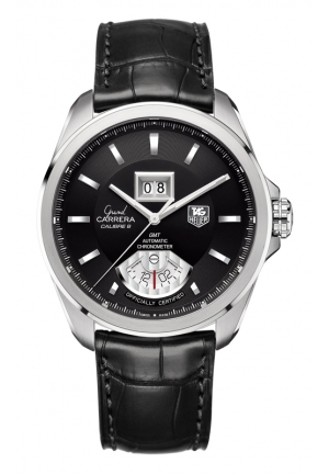 TAG HEUER GRAND CARRERA Calibre 8 RS Grande Date and GMT Automatic watch 42,5 mm WAV5111.FC6225