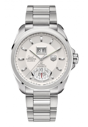 TAG HEUER GRAND CARRERA Calibre 8 RS Grande Date and GMT Automatic watch 42,5 mm WAV5112.BA0901