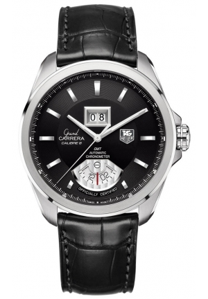 TAG Heuer Grand Carrera Mens Black Watch  43 mmWAV5115.FC6225