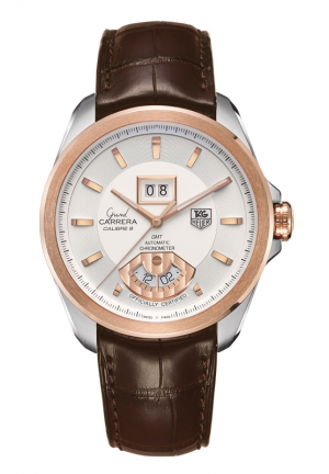 TAG HEUER GRAND CARRERA Calibre 8 RS Grande Date and GMT Automatic watch 42,5 mm WAV5152.FC6231