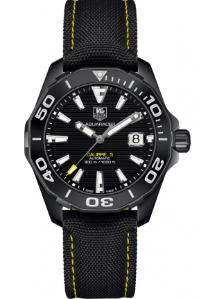AQUARACER BLACK DIAL AUTOMATIC MEN'S WATCH 41MM,WAY218A.FC6362