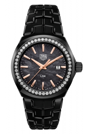 TAG HEUER LINK BLACK CERAMIC METALLIC WBC1390.BH0744, 32MM