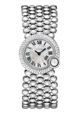 BALLON BLANC DE CARTIER WATCH 24 MM , WE902058