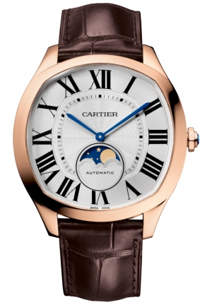 DRIVE DE CARTIER MOONPHASE PINK GOLD MEN'S WATCH WGNM0008, 40 X 41MM