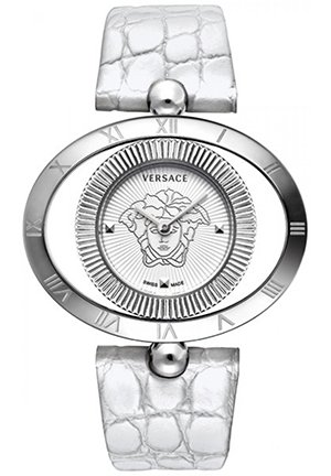 Versace Women's Bezel Leather Watch, 40mm