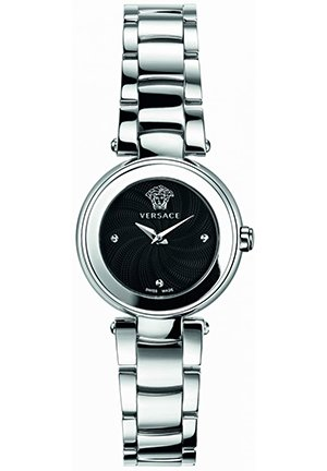 Women's Black Sunray Dial Watch 26mm