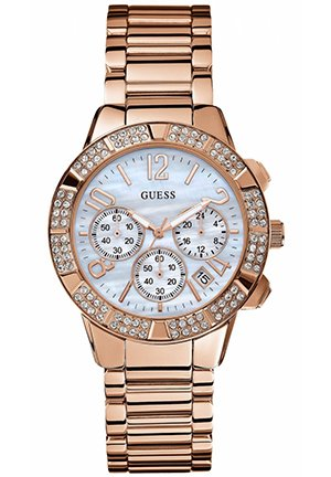 Women's Chronograph Rose Gold Tone Stainless Steel Bracelet 40mm