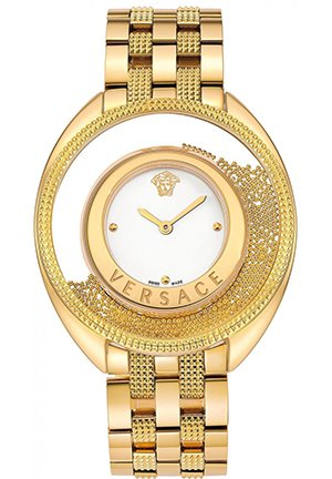 Women's Gold IP Steel Watch 40mm
