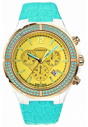 Women's Leather Chronograph Watch 42mm
