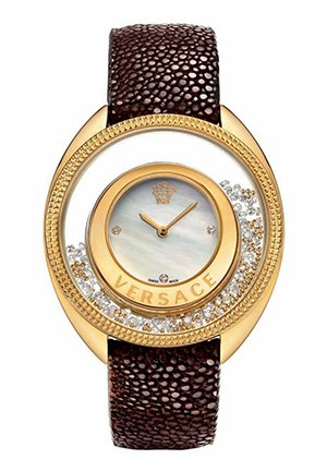 Women's Leather Diamond Watch 39mm