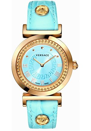 Women's Light Blue Dial Leather Watch 35mm