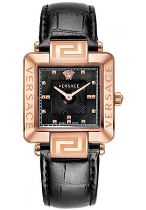 Women's Rose-Gold Plated Mother-Of-Pearl Diamond Leather Watch 30mm