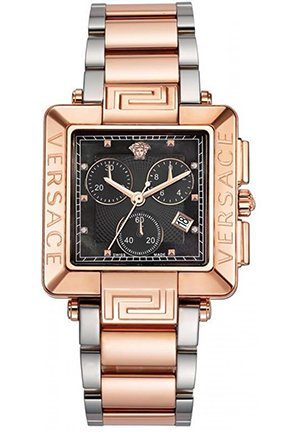 Women's Rose-Gold Plated Mother-Of-Pearl Diamond Watch 36mm