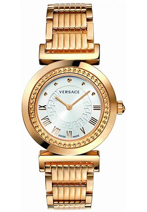 Women's Rose Gold Silver Dial Bracelet Watch 35mm