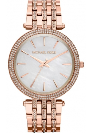 Women's Rose Golden Stainless Steel Darci Three-Hand Glitz Watch