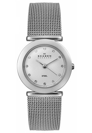 Women's Stainless-Steel Quartz Watch with Silver Dial 25mm