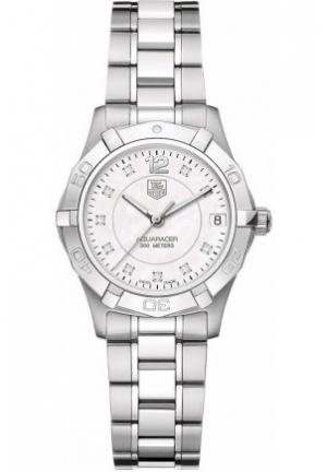 Women's Swiss Aquaracer Diamond Accent Stainless Steel Bracelet 32mm