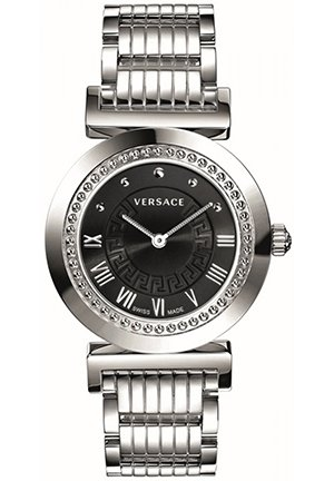Women's Vanitas Stainless Steel Black Sunray Dial Watch 35mm