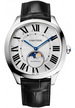 DRIVE DE CARTIER MOONPHASE STAINLESS MEN'S WATCH WSNM0008, 40 X 41MM