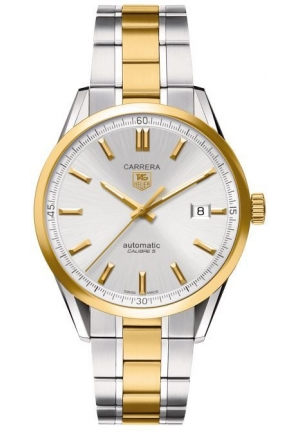 Carrera Silver Dial 18kt Yellow Gold and Stainless Steel Mens Watch 39mm WV215D.BD0788