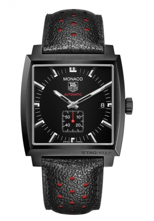 TAG HEUER MONACO Calibre 6 Automatic Watch Full Black 37 mm WW2119.FC6338