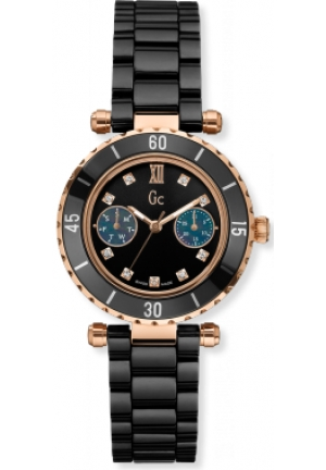 GC Ladies Black Ceramic Bracelet Watch 34mm