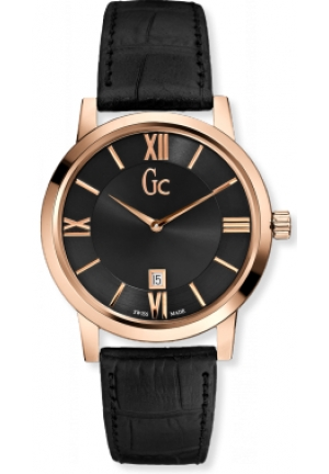 GC SlimClass Black Dial Rose Gold-Tone Steel Mens Watch 40mm