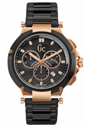 GC Men's Chronograph Black PVD Bracelet 44mm