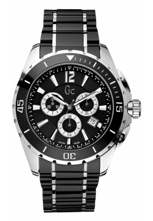 GC Men's Chronograph Sport Class XXL Black Ceramic Bracelet