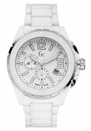 GC Men's Chronograph XXL Phantom Matte White Ceramic Bracelet 45mm