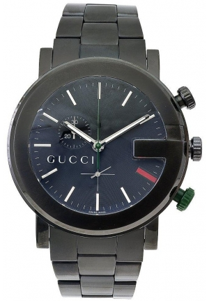 Gucci - G Chrono Black Stainless Steel Watch  44mm