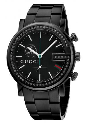 GUCCI G-Chrono Diamond (21/25 ct. t.w.) Black PVD Stainless Steel Bracelet  44mm