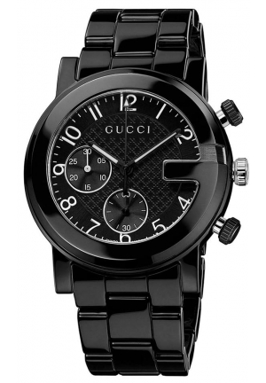 G-Chrono Chronograph Black Dial Black Ceramic Men's Watch YA101352