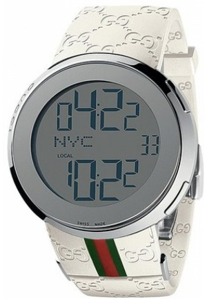 I-Gucci Digital Rubber Strap Watch - Jewelry  44mm