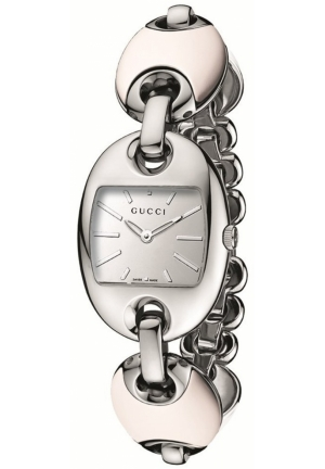 Women's Marina Chain Small White Ceramic and Steel Bracelet Watch  26mm